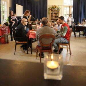 pranzo di Natale con famiglie e amici