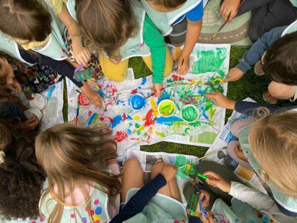 I bambini del camp amano l'arte